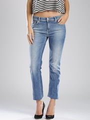 GAS Blue Washed Tight Fit Jeans