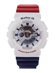 Casio Baby-G Women White Multifunction Analogue & Digital Watch BX053