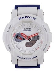 Casio Baby-G Women White Multifunction Analogue & Digital Watch BX056