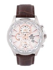 CASIO Edifice Men Silver-Toned Multifunction Dial Watch EX293