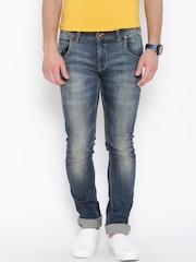 Numero Uno Navy Washed Martin Tapered Fit Jeans