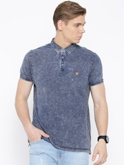 Numero Uno Blue Washed Polo T-shirt