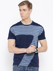 Numero Uno Blue Striped T-shirt