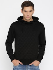 HRX by Hrithik Roshan Men Black Padded Pullover Sweatshirt