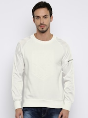 HRX by Hrithik Roshan Off-White Sweatshirt