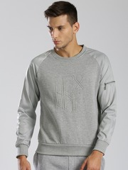 HRX by Hrithik Roshan Grey Sweatshirt