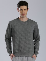 HRX by Hrithik Roshan Grey Quilted Sweatshirt