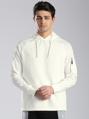 HRX by Hrithik Roshan White Hooded Sweatshirt