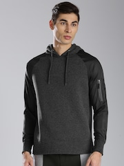 HRX by Hrithik Roshan Charcoal Grey Hooded Sweatshirt