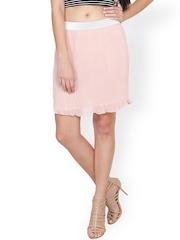 SASSAFRAS Pink A-Line Skirt