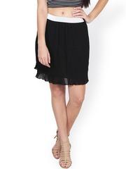 SASSAFRAS Black A-Line Skirt