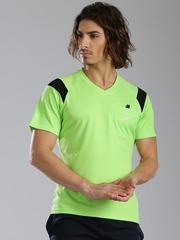 HRX by Hrithik Roshan Lime Green Polyester T-shirt