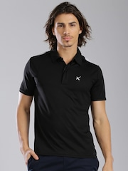 HRX by Hrithik Roshan Black Polo T-shirt