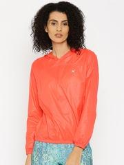 HRX by Hrithik Roshan Orange Hooded Windcheater Jacket