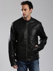 HRX by Hrithik Roshan Black Biker Jacket