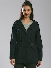HRX by Hrithik Roshan Navy Hooded Utility Jacket