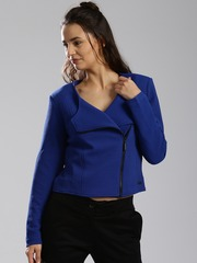 HRX by Hrithik Roshan Blue Crop Jacket