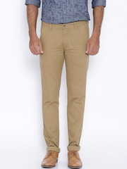 Arrow New Khaki Chrysler Tapered Fit Casual Trousers