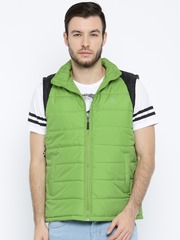 HRX by Hrithik Roshan Green Padded Sleeveless Jacket