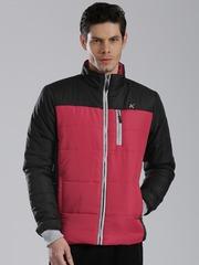 HRX by Hrithik Roshan Red & Black Colourblock Padded Jacket