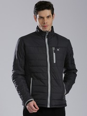 HRX by Hrithik Roshan Black Puffer Jacket
