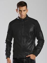 HRX by Hrithik Roshan Black Padded Jacket