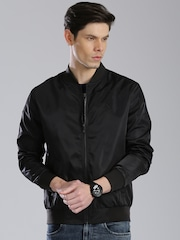 HRX by Hrithik Roshan Black Windcheater Jacket
