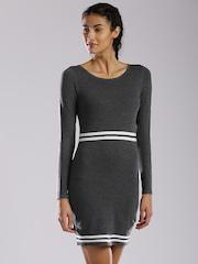 HRX by Hrithik Roshan Women Charcoal Grey Bodycon Dress