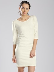 HRX by Hrithik Roshan Off-White Sweater Dress