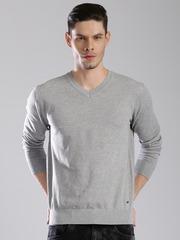HRX by Hrithik Roshan Men Grey Solid Sweater