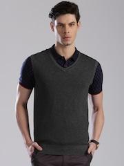 HRX by Hrithik Roshan Charcoal Grey Sleeveless Sweater