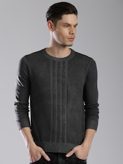 HRX by Hrithik Roshan Men Charcoal Grey Sweater