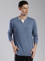 HRX by Hrithik Roshan Men Blue Sweater