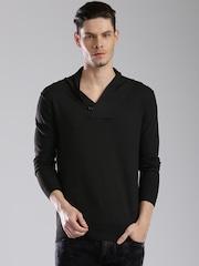 HRX by Hrithik Roshan Men Black Solid Sweater