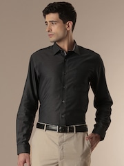 Louis Philippe City Charcoal Grey Formal Shirt