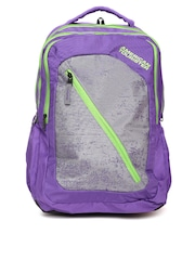 AMERICAN TOURISTER Unisex Purple & Grey Casper Backpack