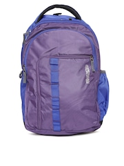AMERICAN TOURISTER Unisex Purple & Blue Comet Backpack