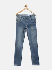 Gini & Jony Boys Blue Washed Slim Jeans