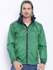 Sports52 wear Green Comfort Fit Hooded Rain Jacket