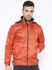 Sports52 Wear Orange Comfort Fit Rain Jacket