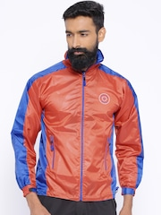 Sports52 Wear Orange & Blue Comfort Fit Rain Jacket