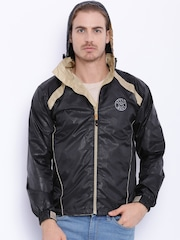 Sports52 wear Black Printed Rain Jacket