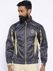 Sports52 Wear Grey Comfort Fit Hodded Rain Jacket