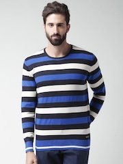 Mast & Harbour Blue & Off-White Striped Sweater