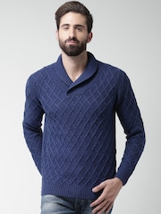 Mast & Harbour Blue Patterned Sweater