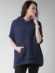 Mast & Harbour Navy Hooded Sweater