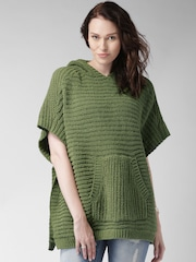 Mast & Harbour Olive Green Hooded Sweater