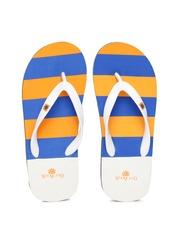 Woodland ProPlanet Men Orange Striped Flip-Flops