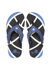 Woodland ProPlanet Men Black & Blue Flip-Flops