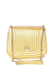 Lisa Hayden for Lino Perros Gold-Toned Quilted Sling Bag